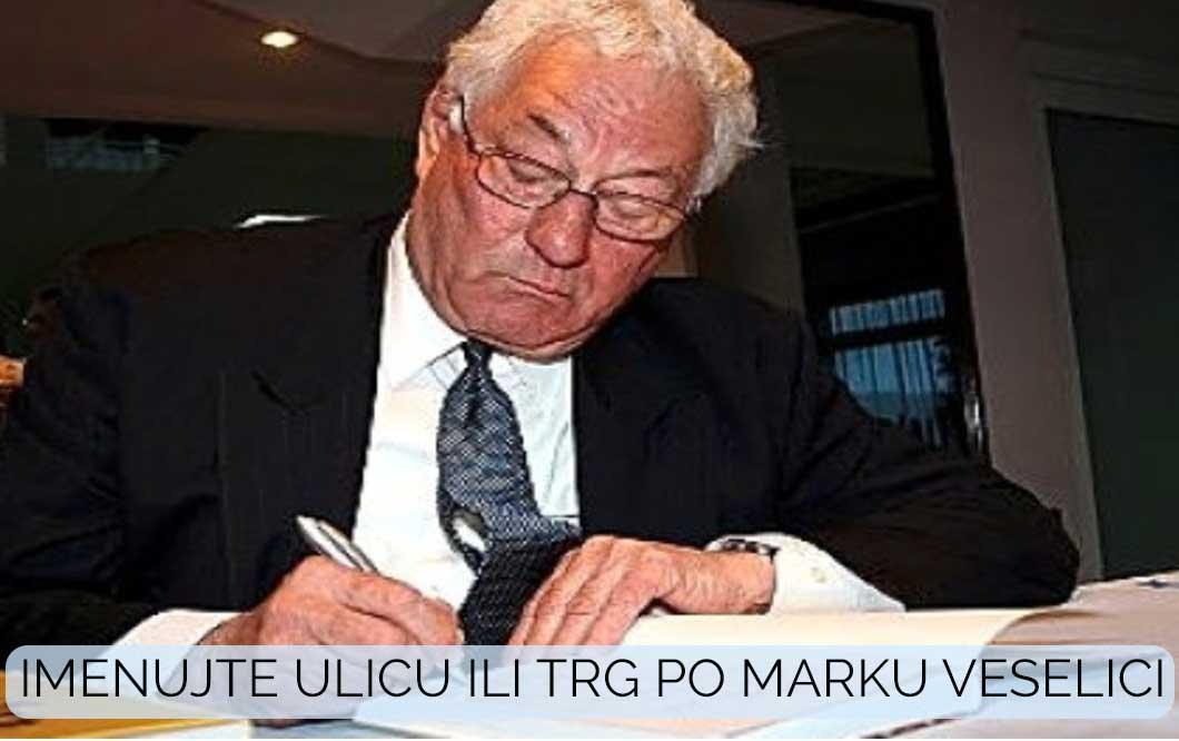 Peticija za ulicu ili trg po Marku Veselici
